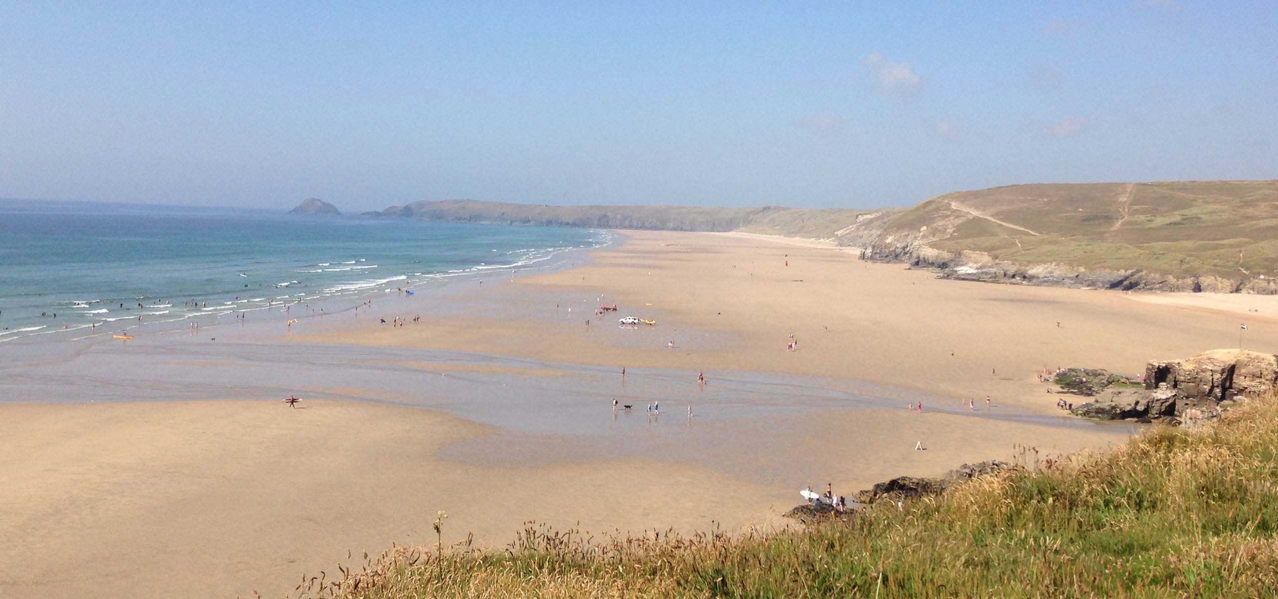 Perranporth Beach in Cornwall